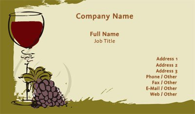 Wine Business Card Template